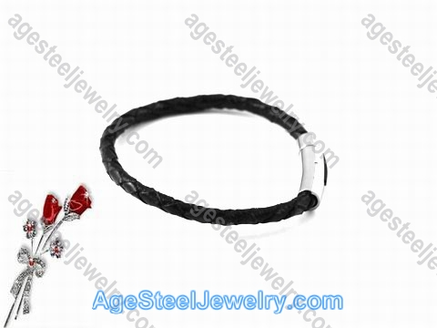 Leather Bracelet Black B0952