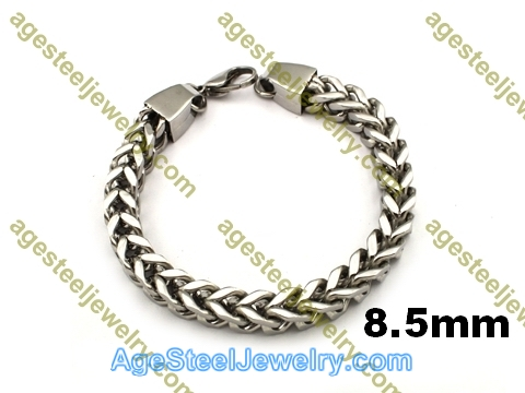 Cowboy bracelet B2389 Steel Color