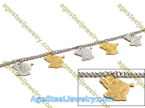 Plating Bracelet B2433 Golden Elephant