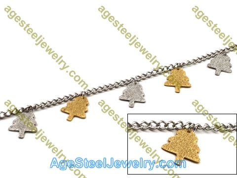Plating Bracelet B2434 Golden Tree
