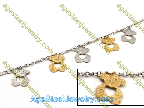 Plating Bracelet B2444 Golden Bear