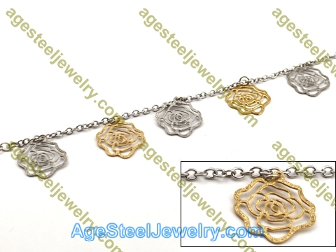 Plating Bracelet B2446 Golden Flower