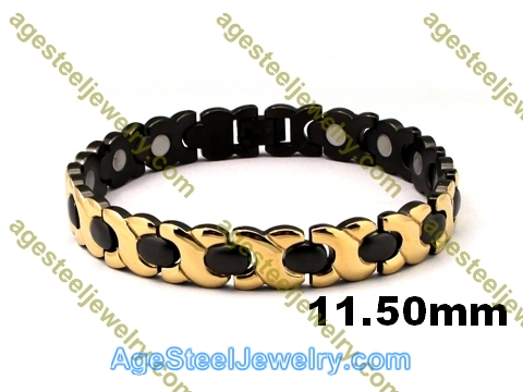 Magnetic Bracelet B2556 Gold & Black