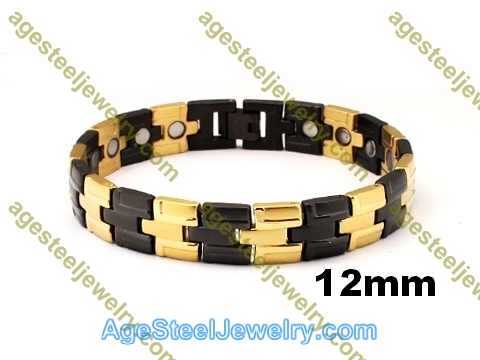 Magnetic Bracelet B2559 Gold & Black