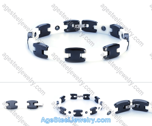 Ceramics Bracelet B8109 Black & White