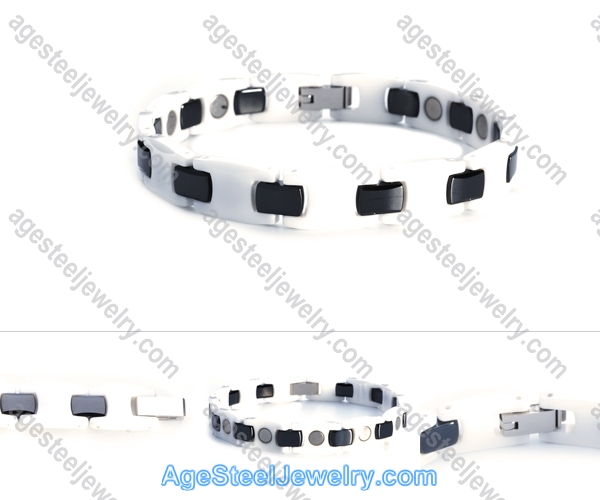 Ceramics Bracelet B8110 Black & White