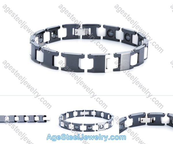 Ceramics Bracelet B8112 Black & White