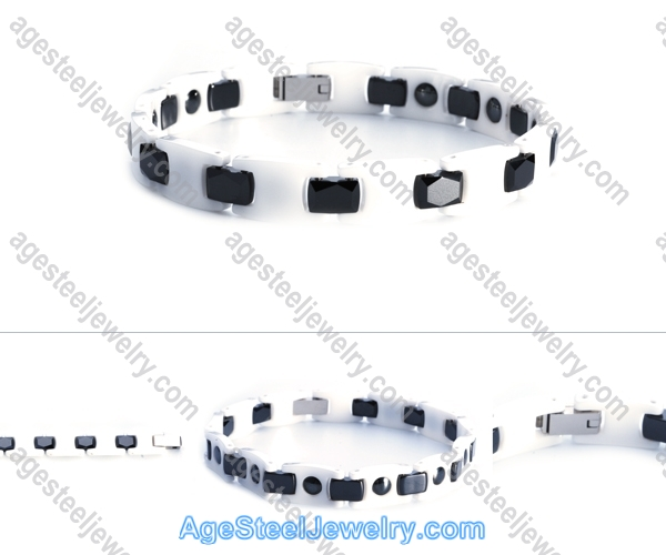 Ceramics Bracelet B8114 Black & White