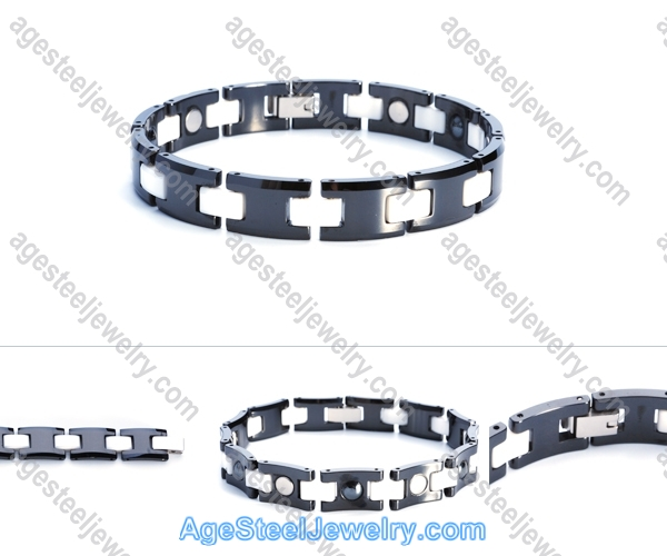 Ceramics Bracelet B8115 Black & White