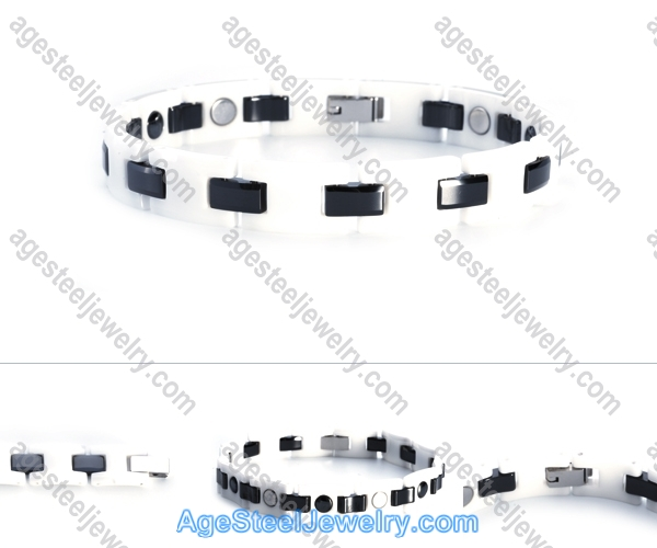 Ceramics Bracelet B8116 Black & White