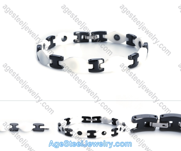Ceramics Bracelet B8118 Black & White