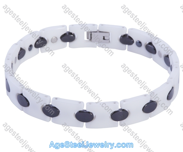 Ceramics Bracelet B8150 Black & White