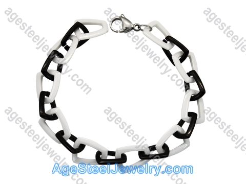 Ceramics Bracelet B8181 Black & White