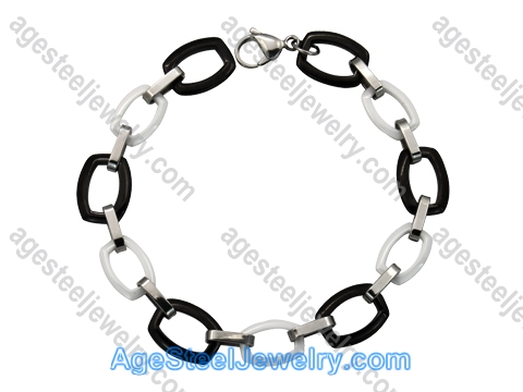 Ceramics Bracelet B8186 Black & White