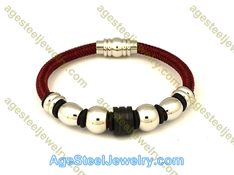 Leather Bangle BA1070 Red