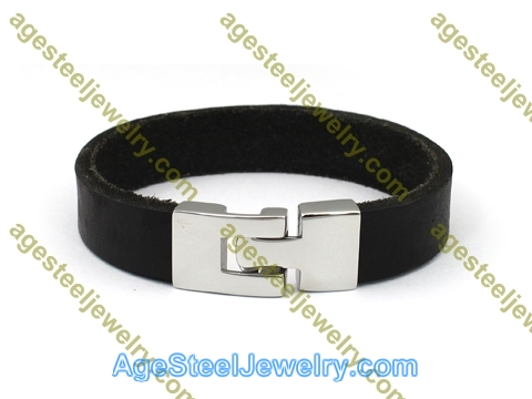 Leather Bangle BA1142 Black