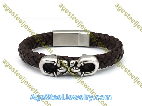 Leather Bangle BA1145 Brown