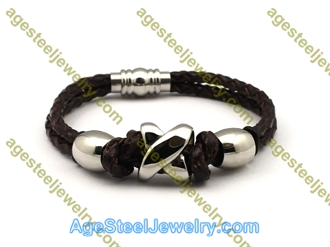 Leather Bangle BA1146 Brown