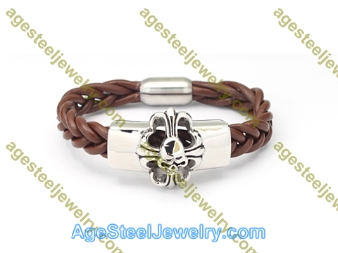 Leather Bangle BA1174 Brown