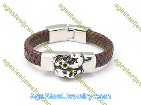 Leather Bangle BA1175 Brown