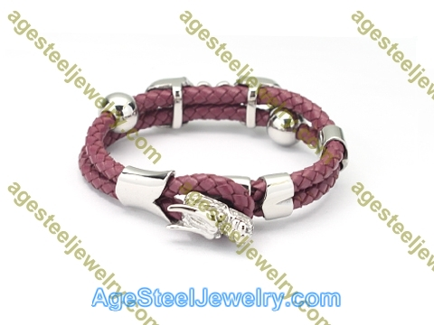 Leather Bangle BA1176 Purple