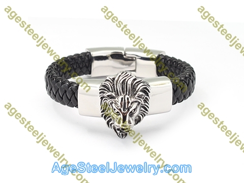 Leather Bangle BA1177 Black