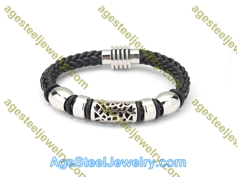 Leather Bangle BA1181 Black