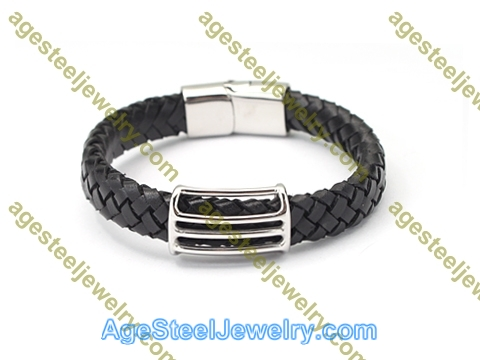 Leather Bangle BA1182 Black