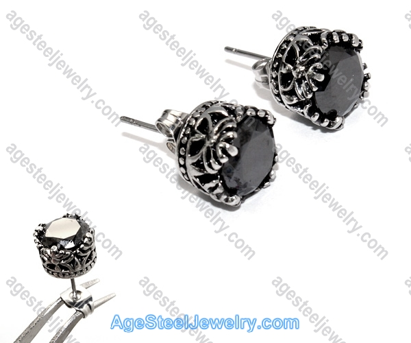 Casting Earring E2320 Black Temptation