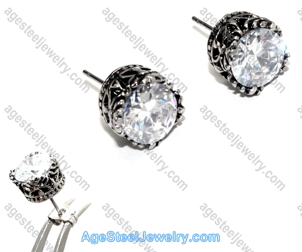 Casting Earring E2325 Round Diamond