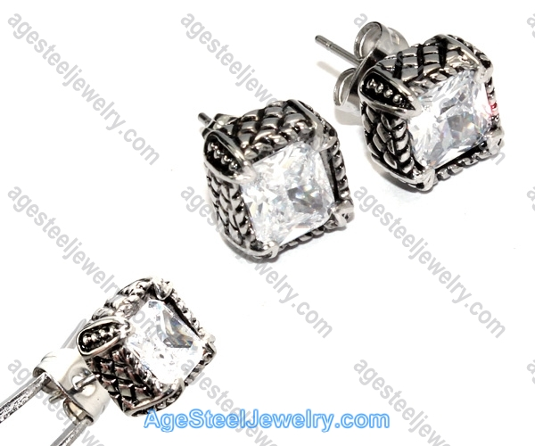 Casting Earring E2330 Diamond Stone