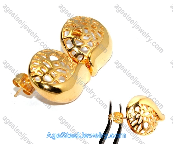 Casting Earring E2332 Gold Plated