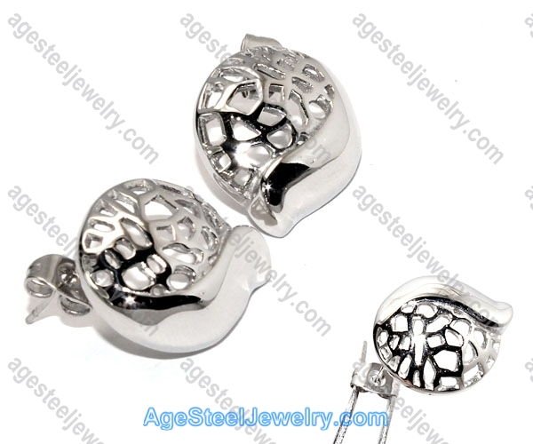 Casting Earring E2333 Steel Color