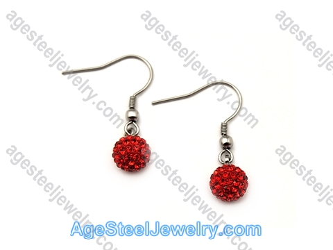 Stone Earring E2425 Red Stone
