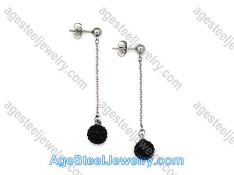 Stone Earring E2428 With Black Stone