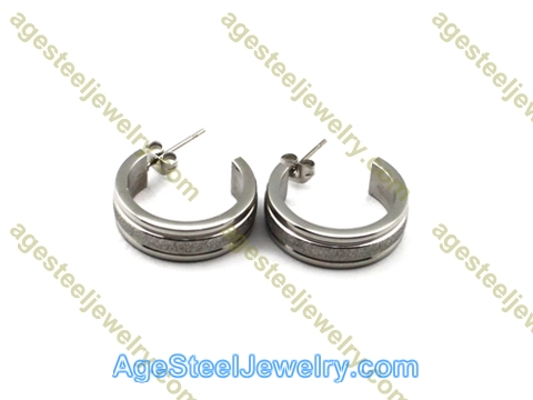 Corrosion Earring E2514 Steel Color