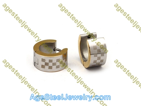 Corrosion Earring E2590 Square lattice