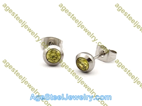 Stone Earring E2689 Yellow