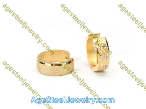 Plating Earring E2761 With Three Stone