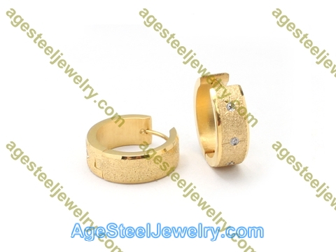 Plating Earring E2765 With Three Stone