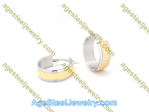 Plating Earring E2812 With Three Stone