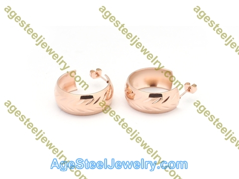 Plating Earring E2818 Rose Gold