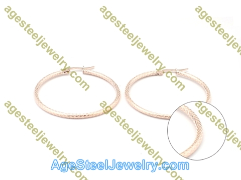 Line Earring E2836 Rose Gold
