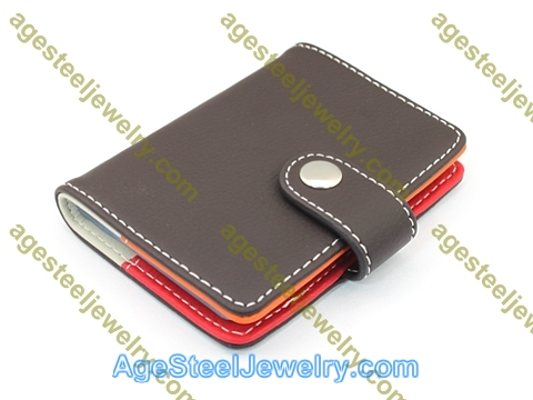 Business Card Holder H0392 Red and Orange