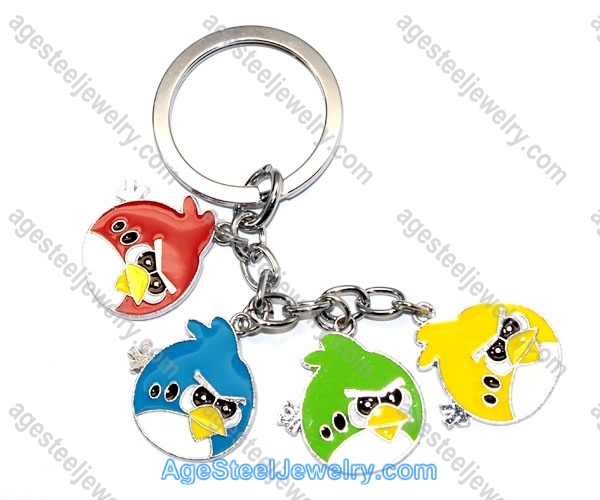 Key Ring K0849 Red Fire & Blue Ice And So On