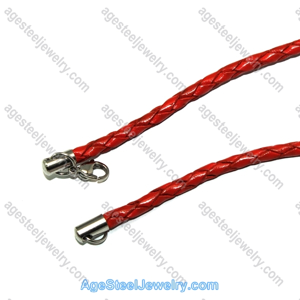 Leather Chain N1511 Red