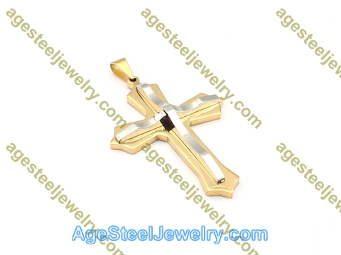 Cross Pendant P5084 Gold
