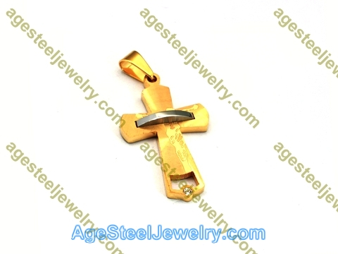 Cross Pendant P5457 Gold