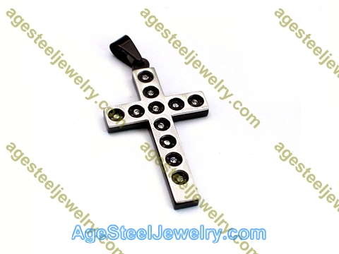 Cross Pendant P5458 Black