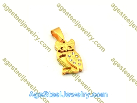 Stamping Pendant P5473 Gold